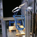 Circular rotor test in wind tunnel
